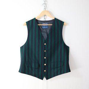 vintage pendleton stripe wool gilet vest 44 L